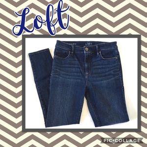 Loft Modern High Waist Skinny Ankle Jean